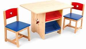 Chaise Bois Enfant : table chaises et bac rangement enfant en bois ~ Teatrodelosmanantiales.com Idées de Décoration