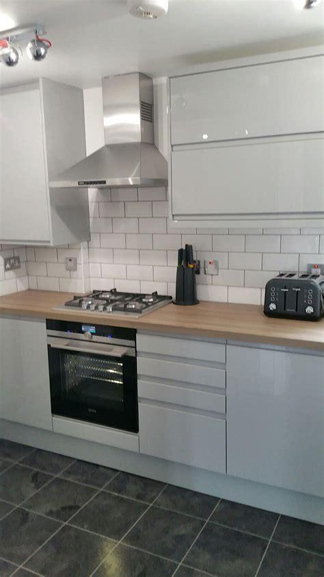 grey brick tiles kitchen grey gloss kitchen white brick tiles new house 4055