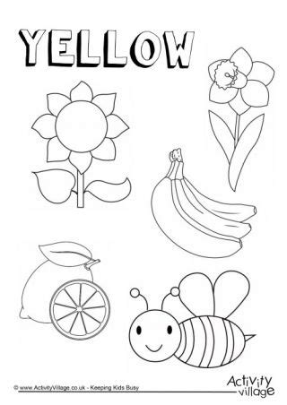 yellow  colouring page crafts color worksheets