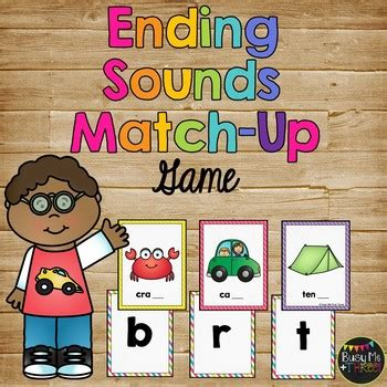 sounds match  game literacy centers beginning