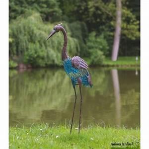 Déco Exterieur Jardin : h ron en m tal animal d coratif stylis ext rieur ~ Farleysfitness.com Idées de Décoration