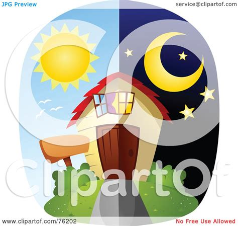 royalty free rf clipart illustration of a unique day and home by bnp design studio 76202