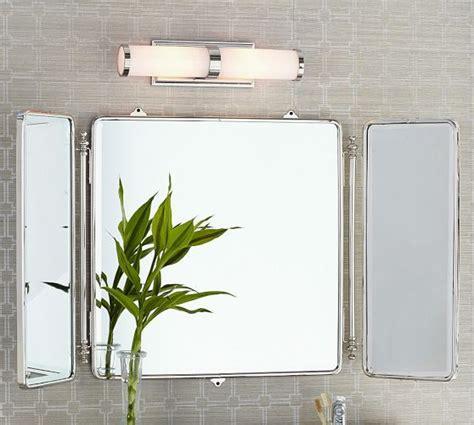 Tri Fold Bathroom Wall Mirror by Vintage Tri Fold Mirror Pottery Barn Miroirs