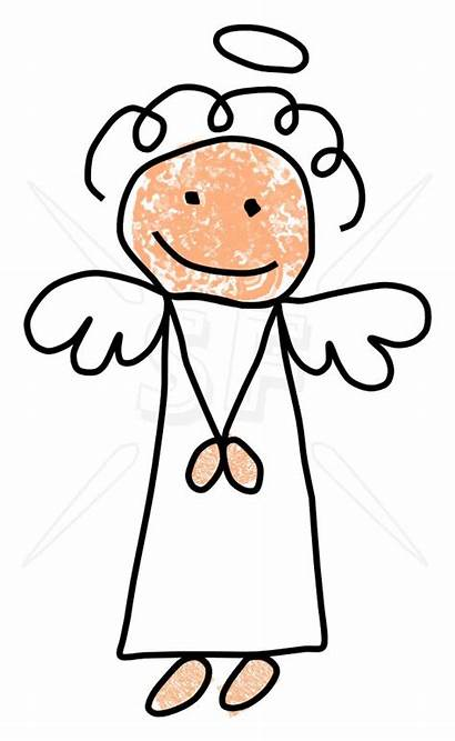 Angel Clip Clipart Stick Figures Praying Cliparts
