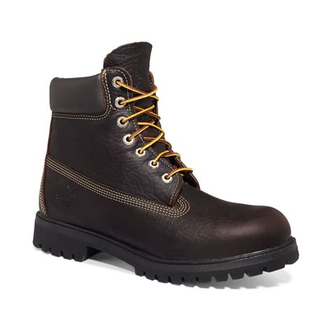 designer timberland boots timberland 6 premium waterproof boots in brown for lyst