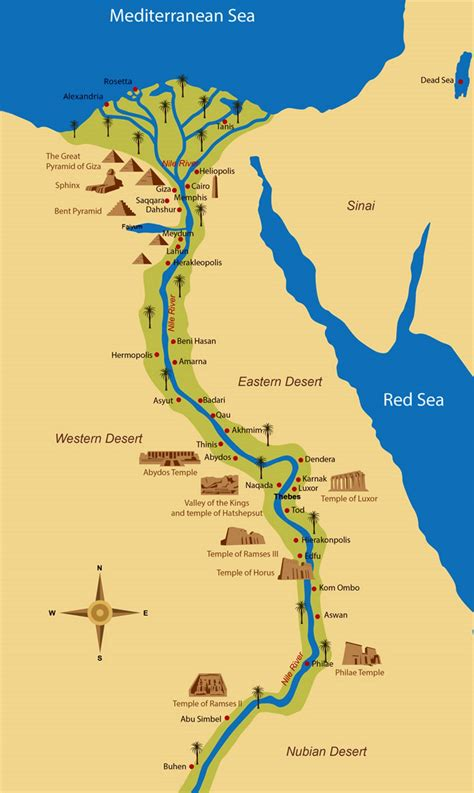detailed map  ancient egypt egypt africa mapsland