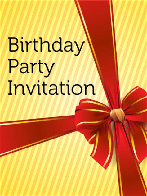 Birthday Party Invitation Card Birthday & Greeting Cards