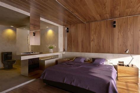 chambre attenante intérieur design salon chambre à coucher et salle de bains