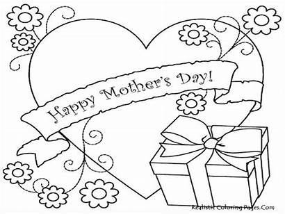 Mothers Coloring Mother Pages Printable Happy Sheets