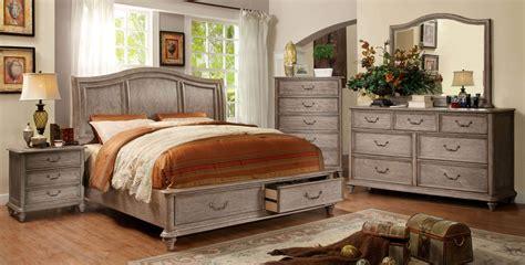 king size platform bed sets 4 belgrade i platform rustic storage bedroom set cm7613