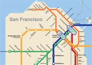 Bart San Francisco Metro Map