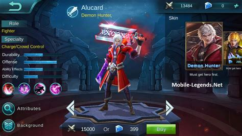 mobile legend alucard alucard features 2019 mobile legends