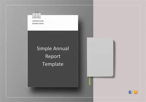 annual report template   word excel