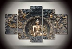 Popular buddha wall hangings buy cheap buddha wall for Best brand of paint for kitchen cabinets with large buddha wall art