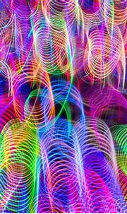 Colorful neon defocused lights patterned background   free ...