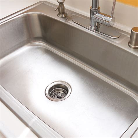 clean stainless steel kitchen sink how to clean your stainless steel sink popsugar smart living