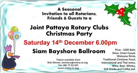 joint pattaya rotary clubs christmas party  december