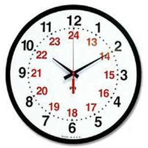 military time chart   hour clock conversions