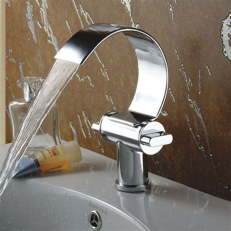 Special Design Brass Chrome Finish Waterfall Curve Spout