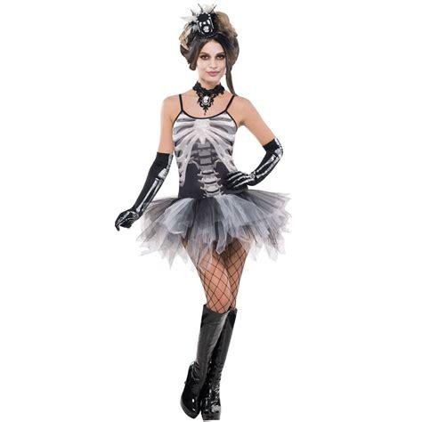 costume hallowen black 1 skeleton print tutu fancy dress costume