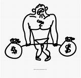 Weight Lifting Coloring Weights Money Clipart Clipartkey sketch template