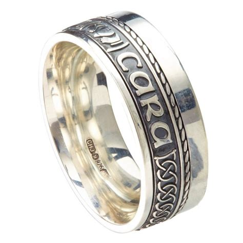 soul mate eternal promise silver band irish wedding