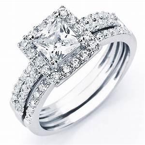bridal sets bridal sets cubic zirconia princess cut With zirconia wedding ring sets