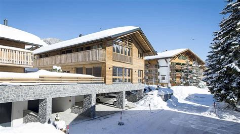 luxury ski chalet in lech with spa near the ski lifts