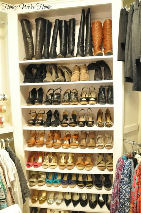 25 best ideas about closet shoe storage on