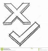 Tick Cross Doodle Vector Royalty Dreamstime sketch template