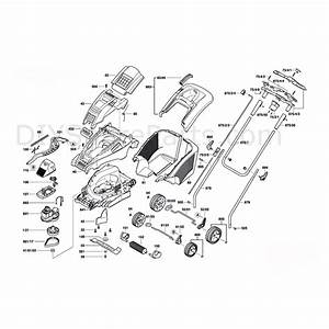 Bosch Rotak 40 Gc Rotary Mowers  3600h81c73  Parts Diagram
