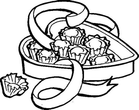 Kleurplaat Chocolade by Chocolate In The Box Coloring Page Chocolate