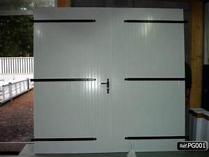 Portes de garage en lame pvc a fabriquer ou pret a installer for Porte de garage pvc 2 vantaux