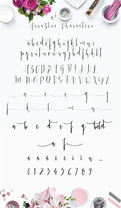 aura blue modern calligraphy font script fonts