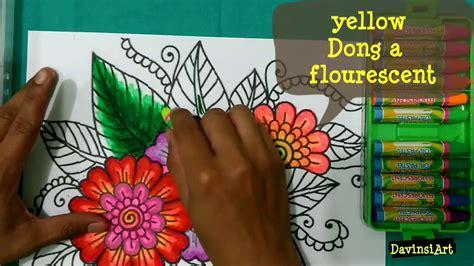 mewarnai bunga dengan crayon how to colouring flower