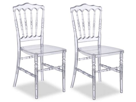chaises polycarbonate lot de chaises vicomte polycarbonate transparent