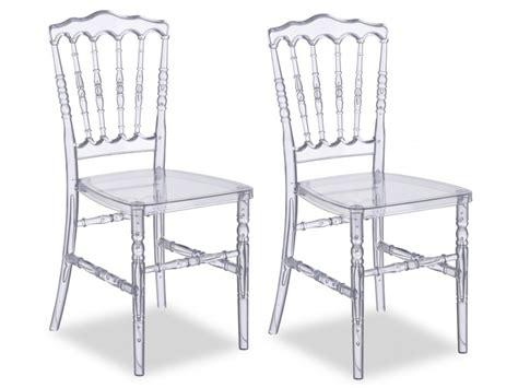 vente unique chaise lot de chaises vicomte polycarbonate transparent