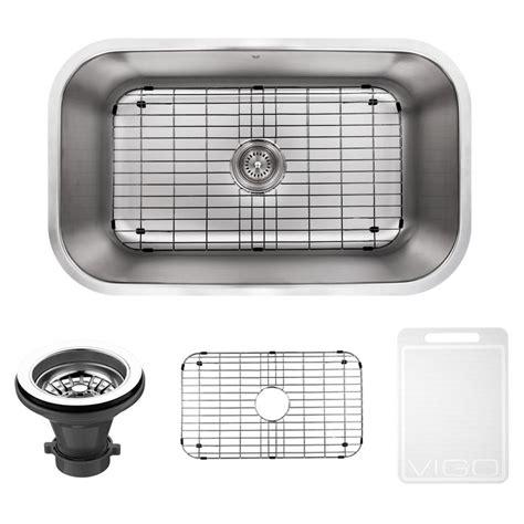 pics of kitchen sinks vigo undermount stainless steel 30 in single bowl kitchen 4182