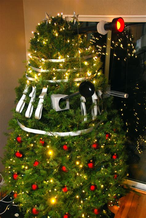 doctor who dalek themed christmas tree geektyrant