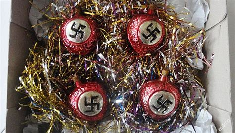 public outrage  nazi christmas baubles  sold  czech