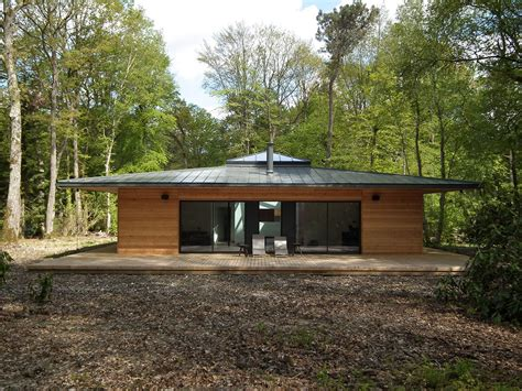 normandie une maison 224 ossature bois carr 233 e en pleine for 234 t par e2r la maison bois par