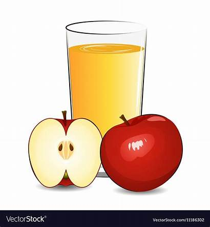 Juice Apple Fresh Clipart Vector Clipground Vectorstock