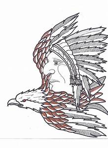 Native Eagle Drawing by Cam Macpherson