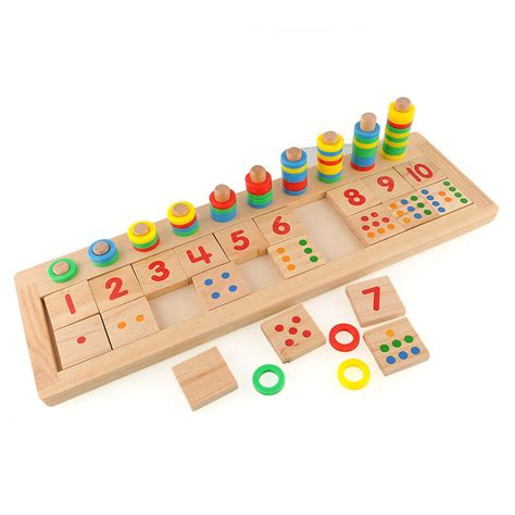colourful montessori teaching tool math number wood board 988 | s l1000