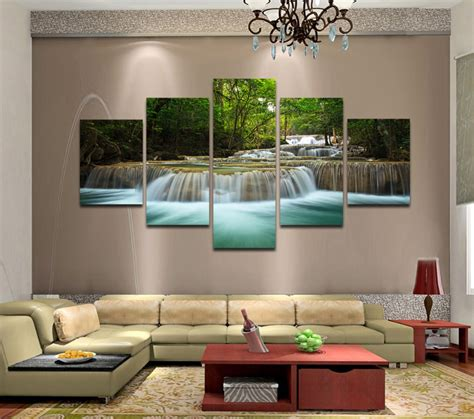 panels huge hd beautiful green waterfall top rated