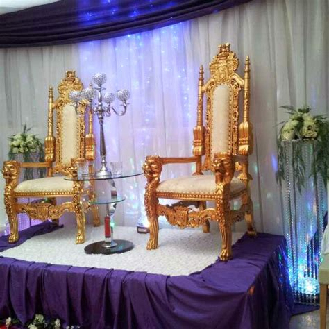 lara hire gold large wedding king throne chairs