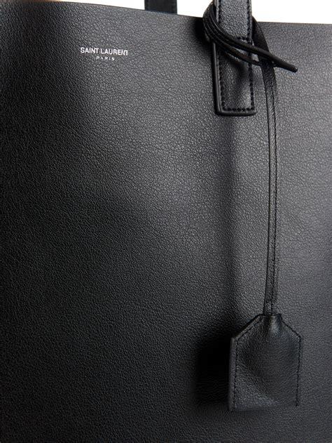 saint laurent monogram leather shopper bag  black  men lyst