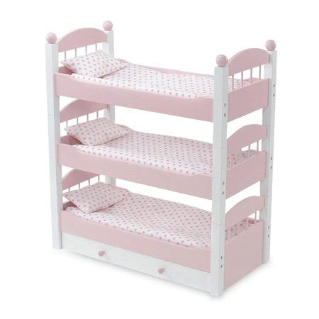 doll furniture lovely pink  white stackable