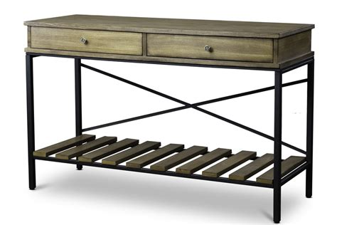 wood metal console table baxton studionewcastle wood and metal console table criss