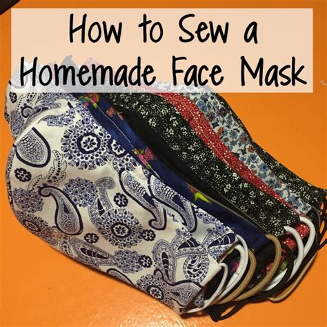 runs  cookies   sew  simple homemade face mask